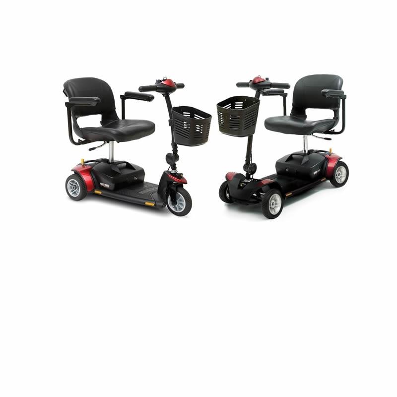 Scooter Eléctrico portátil y desmontable GOGO 4 Ruedas