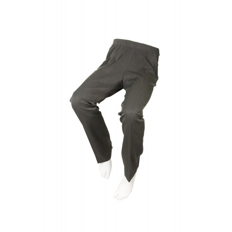 Pantalón Adaptado con Cremalleras Laterales Gris