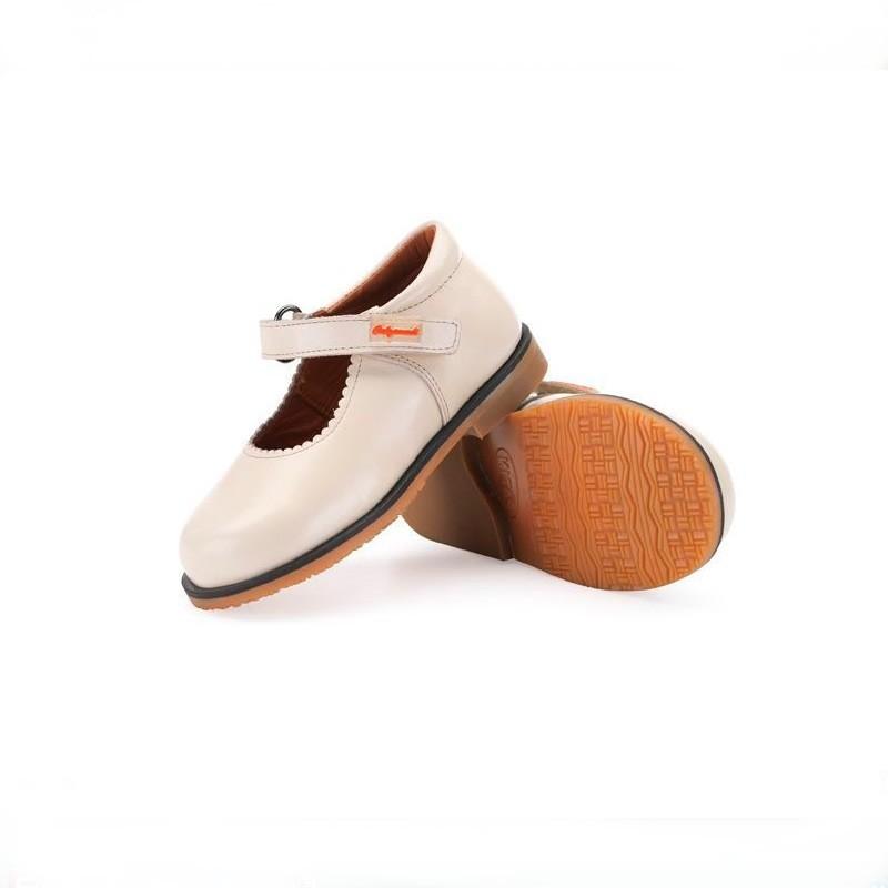 Zapato Merceditas Horma Recta Marfil