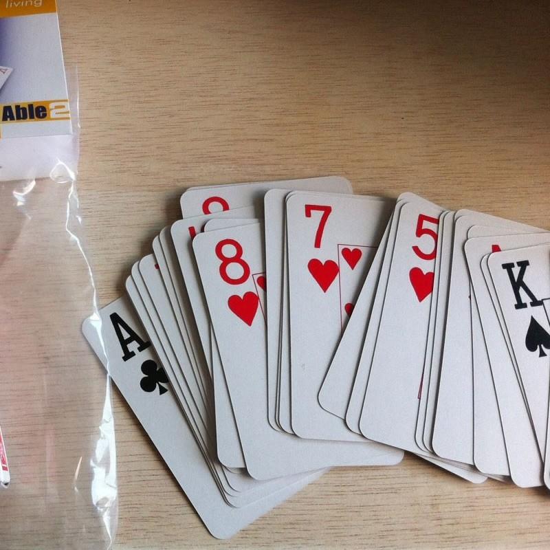 Cartas de Póker con Numeración Grande