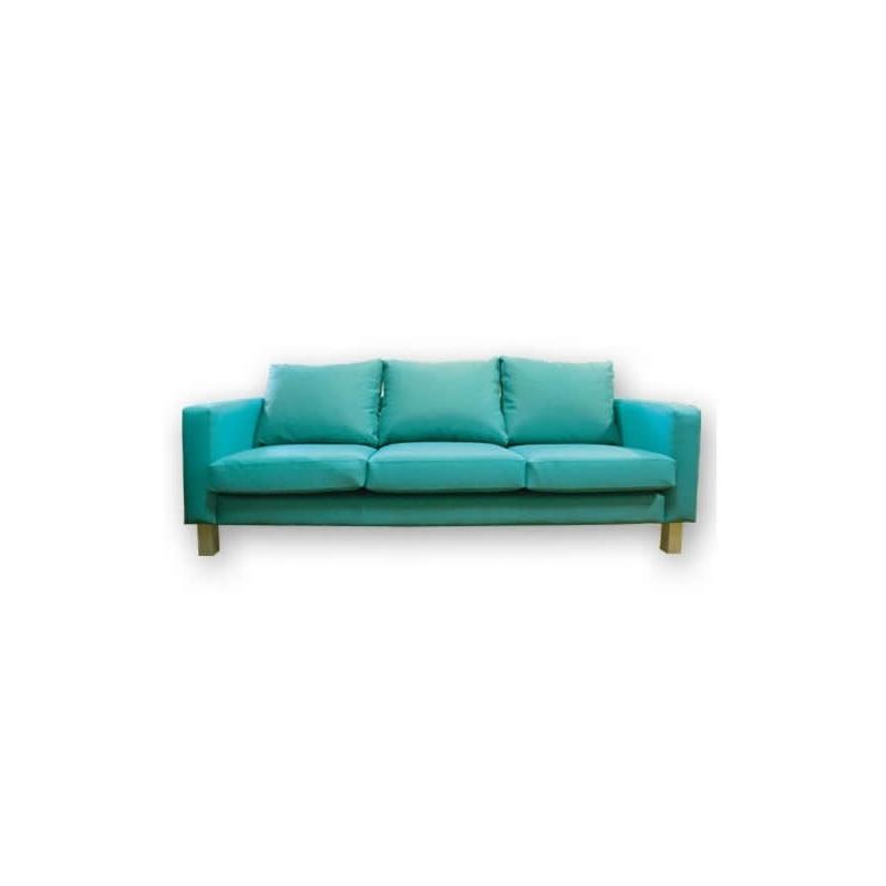 Sofá de 3 plazas con Respaldo Bajo Tapizado