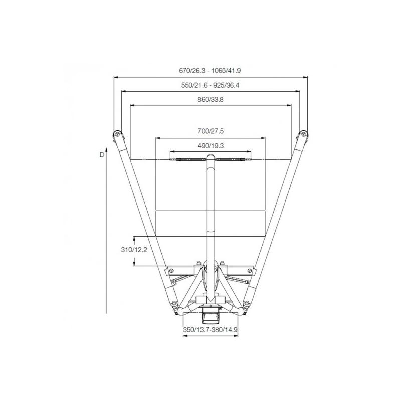 Grúa Eléctrica móvil Plegable Vega 505