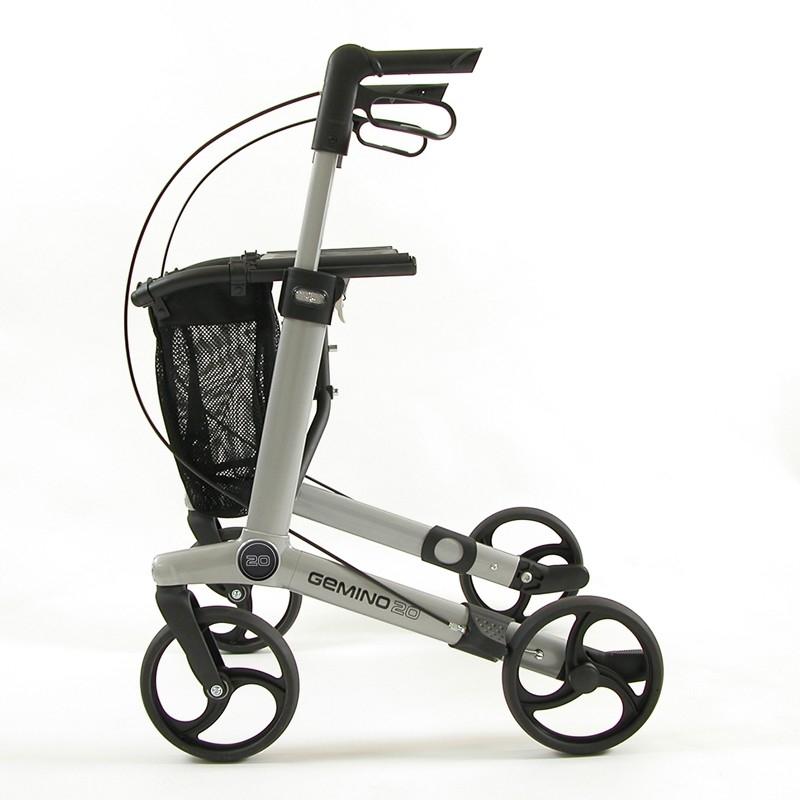 Andador para ancianos de 4 ruedas Gemino 20