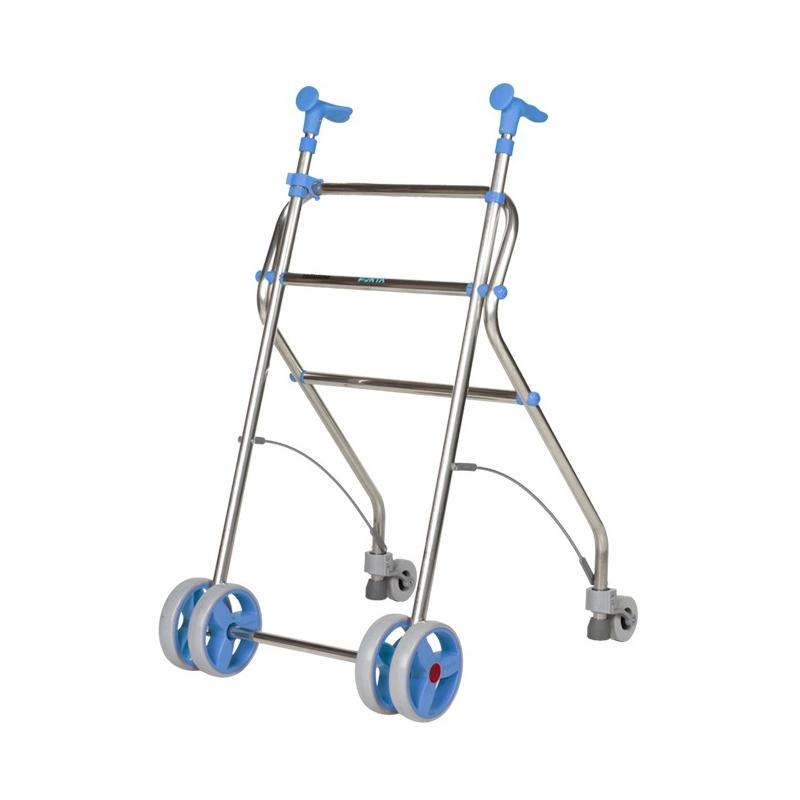Andador  4 ruedas Rollatino Azul