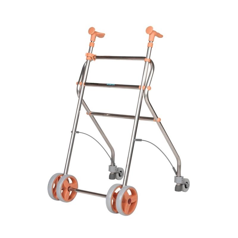 Andador  4 ruedas Rollatino Salmón