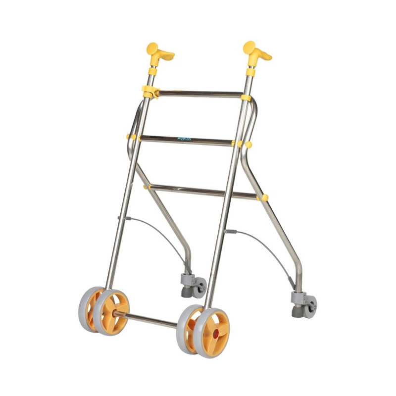 Andador  4 ruedas Rollatino vainilla