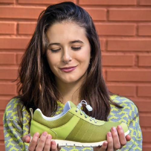 Zapatillas de deporte femeninas transpirables Sport 10 Singular color verde pistacho