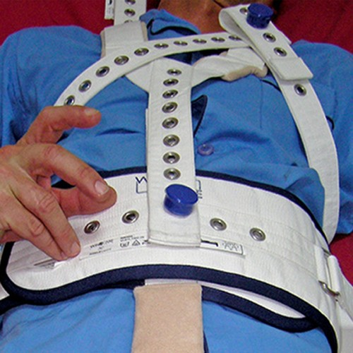 Sujeción hombros y tórax