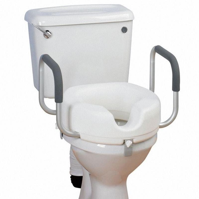 Asiento Elevador de WC 12 cm con brazos