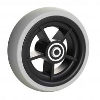 Rueda Completa con Neumático de Caucho 125x40 mm.