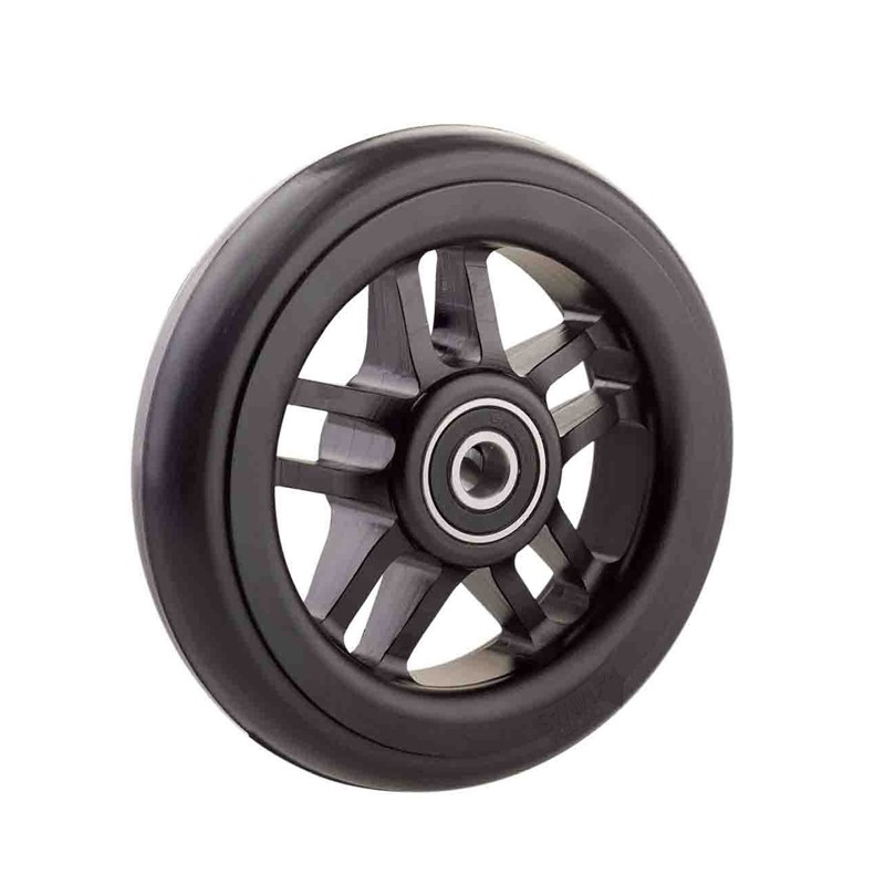 Ruedas Completas de Diseño Negro con Neumáticos de Caucho 100x24 - 125x24