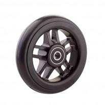 Ruedas Completas de Diseño Negro con Neumáticos de Caucho 100x24 mm.