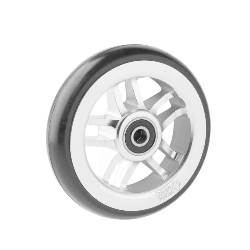 Ruedas Completas de Diseño Blanco con Neumáticos de Caucho 100x24 - 125x24