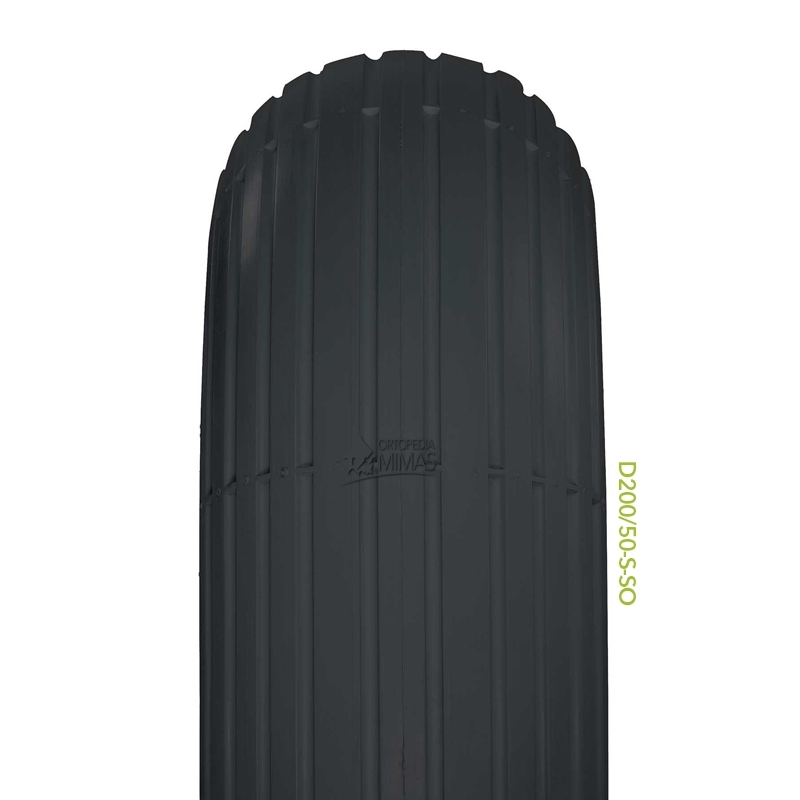 """Neumáticos para Sillas de Ruedas 8""""x2"""" 200x50 mm."""