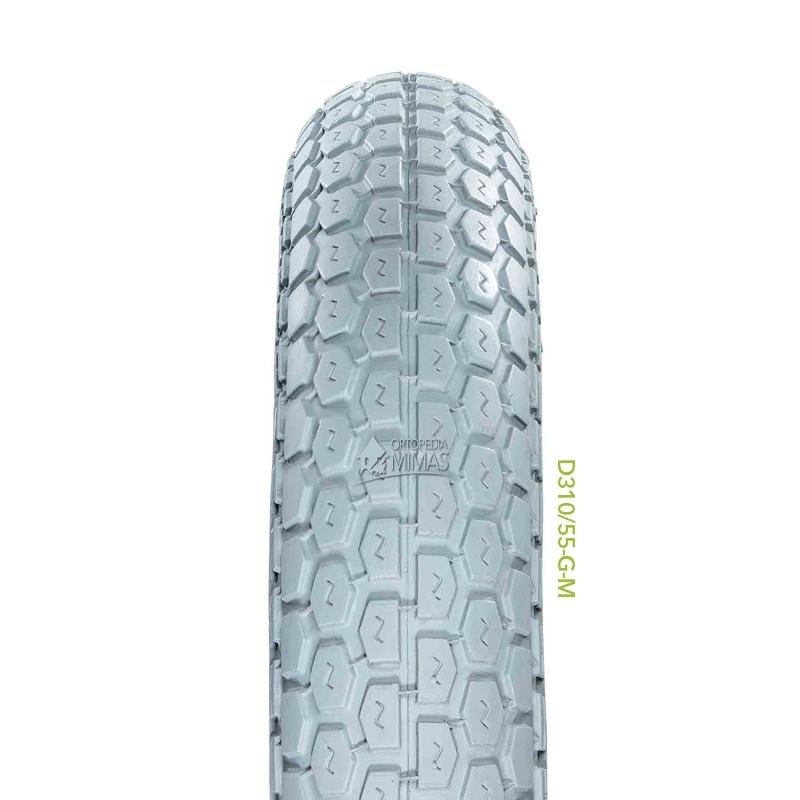 """Neumáticos para Sillas de Ruedas Manuales 10""""x2"""" 250x50 mm. Negra"""