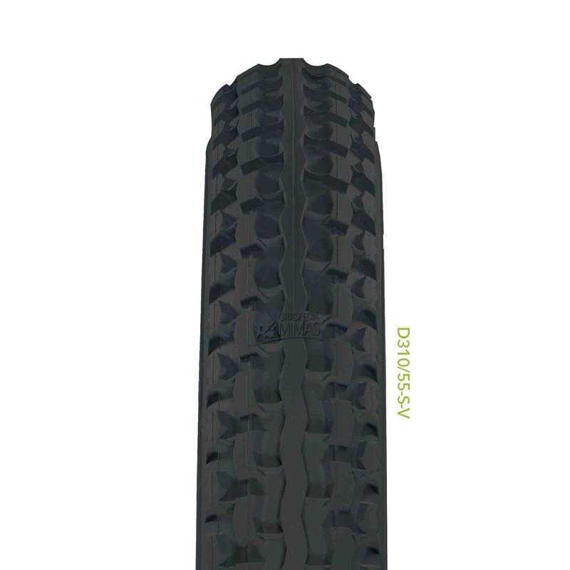 """Neumáticos para Sillas de Ruedas Manuales 12.1""""/2""""x2.1/4"""" 310x55 mm. Gris"""