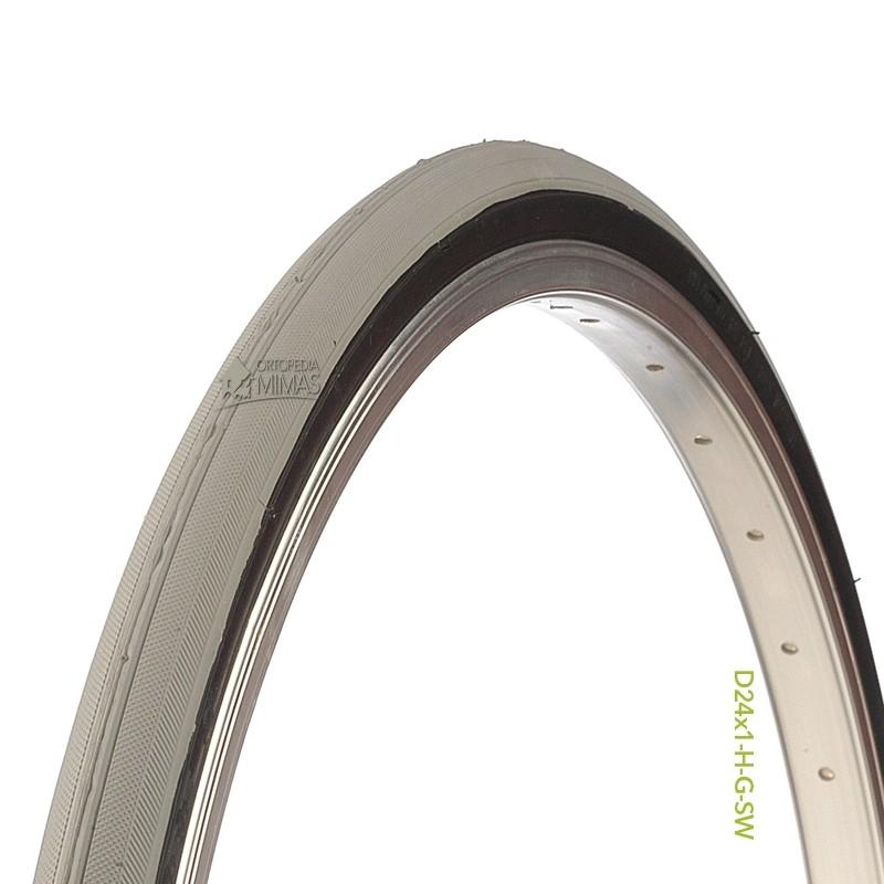 """Neumáticos para Sillas de Ruedas Manuales 24""""x1"""" 620x25 mm. Gris"""