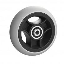 Ruedas Completas con Neumáticos de Caucho 125x32 mm.