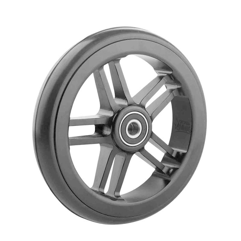 Ruedas Completas de Diseño Negro con Neumáticos de Caucho 125x24 mm.