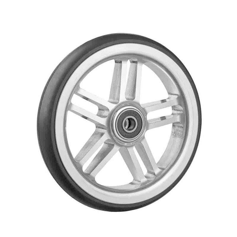 Ruedas Completas de Diseño Blanco con Neumáticos de Caucho 125x24 mm.