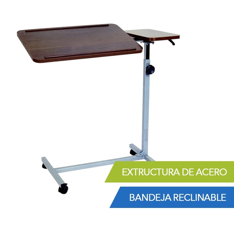 Mesa con doble bandeja - Mesa auxiliar bandeja ...