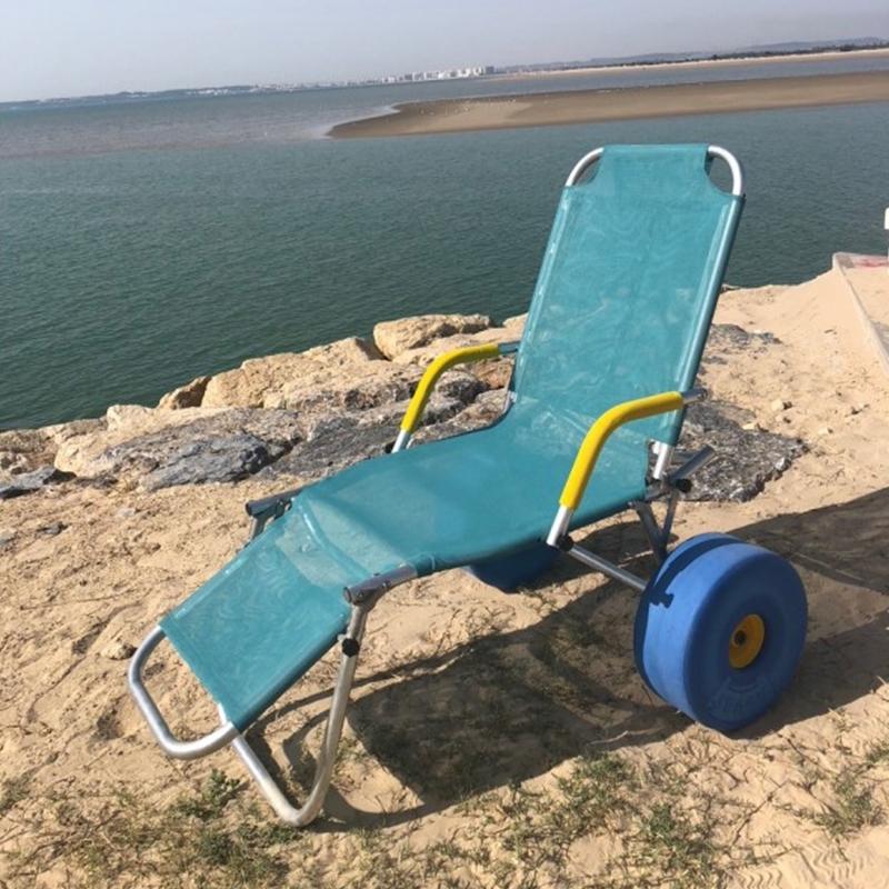 Tumbona Oceanic Sun adaptada para playa