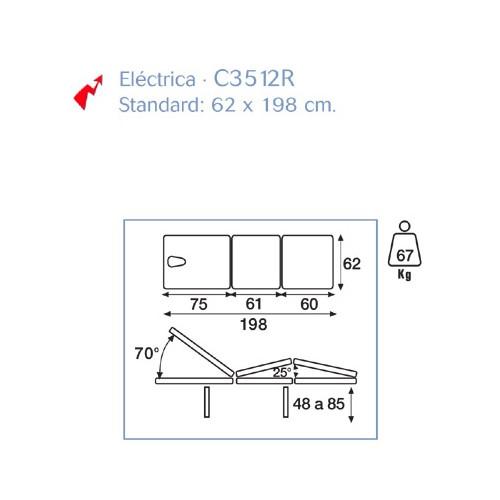 Camilla Eléctrica 3 Cuerpos