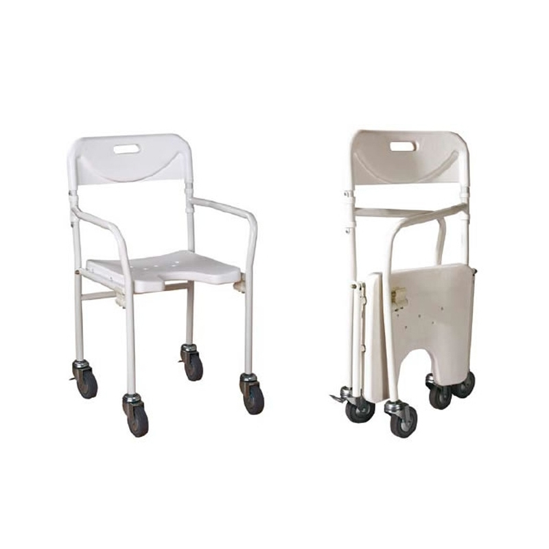 Sillas plegable para baño con ruedas