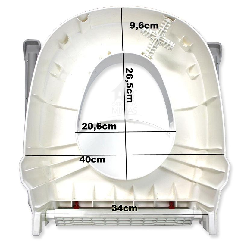 Medidas Elevador de Inodoro Aquatec 900