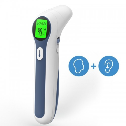 Termómetro infrarrojo para frente y oído
