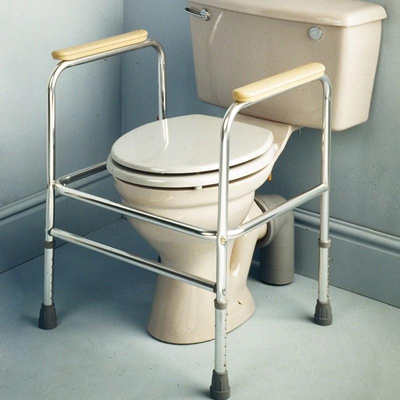 Soporte Ayuda WC de Aluminio Graduable