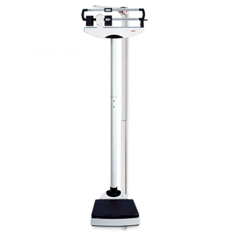 Báscula mecánica de columna con pesas deslizantes y tallímetro opcional
