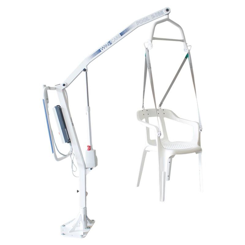 Grúa de Piscina Pool e-185 con silla