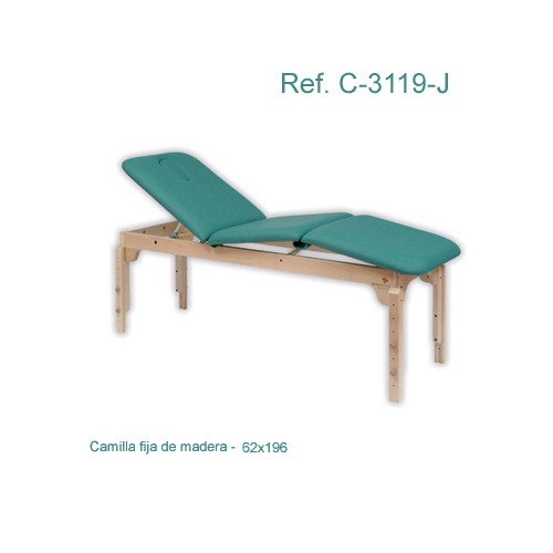 Camilla Fija Madera 3 Cuerpos
