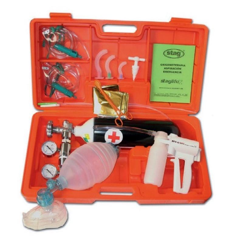 Maleta de emergencias con aspirador manual 430