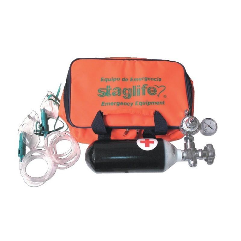 Maleta de emergencias con botella de oxígeno - E1001