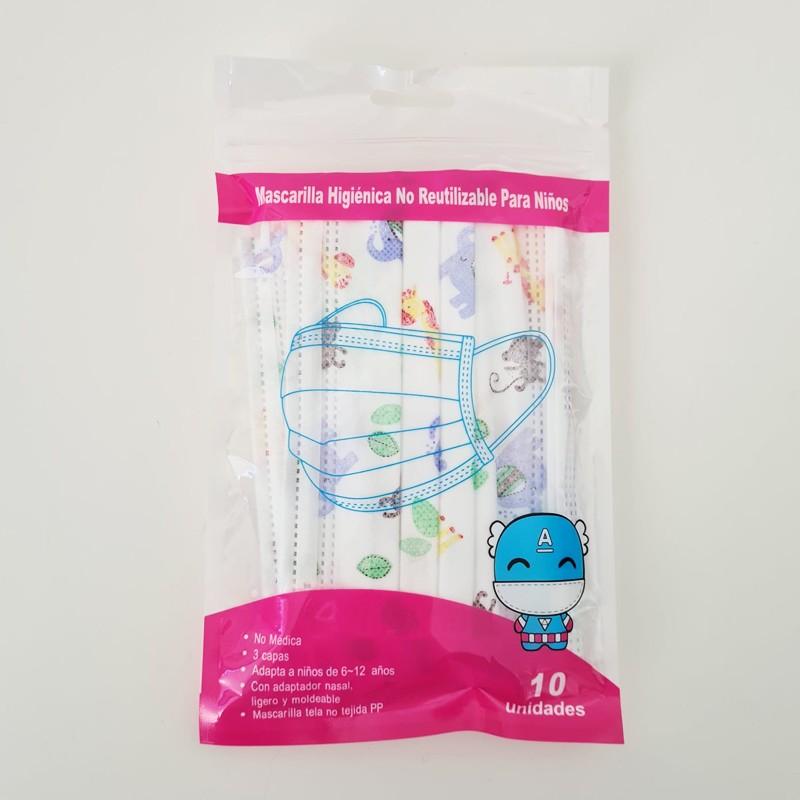 Mascarilla Higiénica Infantil Dibujos