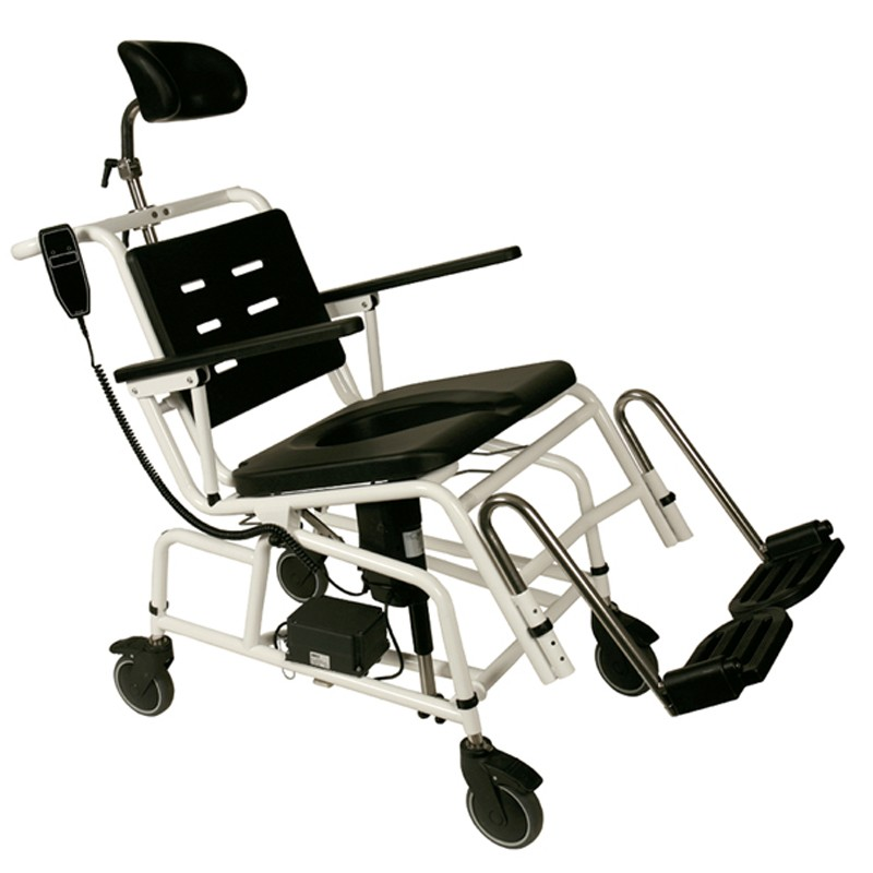 Silla de baño con ruedas Combi basculante eléctrica Handicare