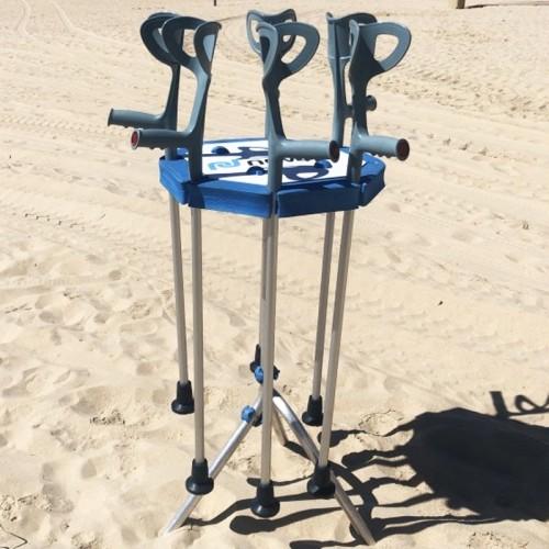Kit muletas anfibias soporte arena/agua