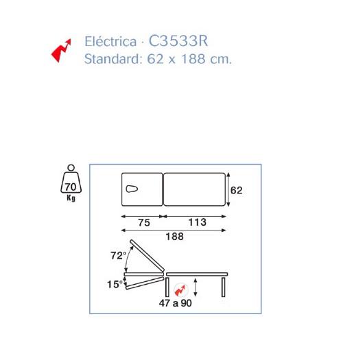 Camilla Eléctrica Dos Cuerpos