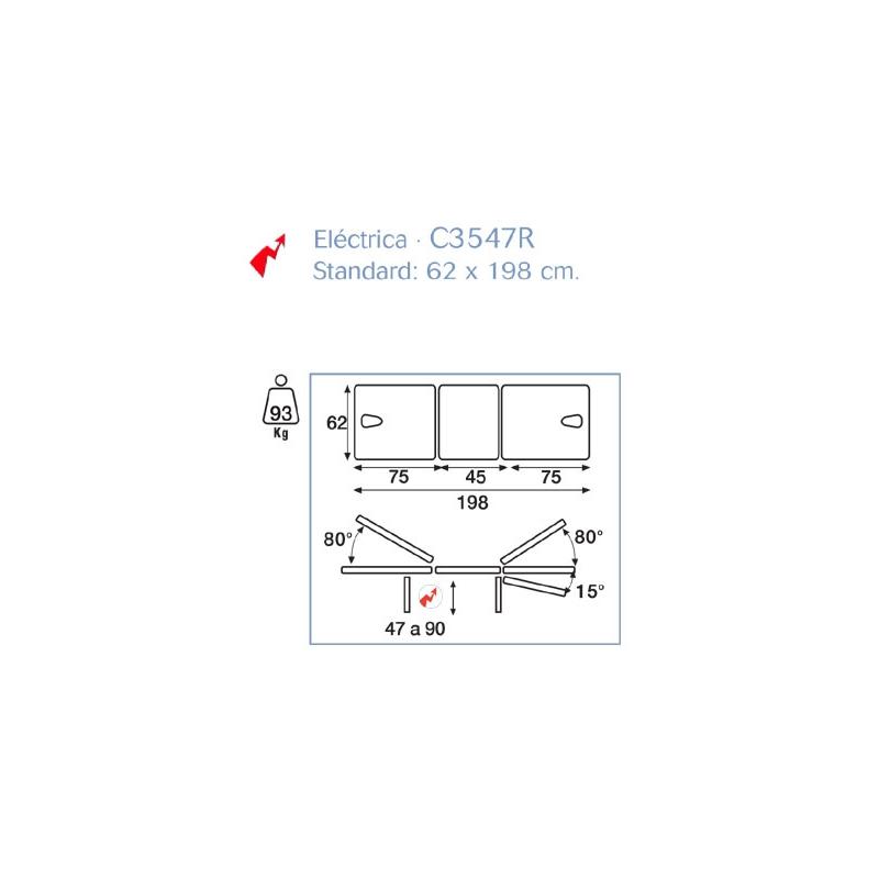 Camilla Eléctrica 3 Cuerpos con Carenado y Periférico