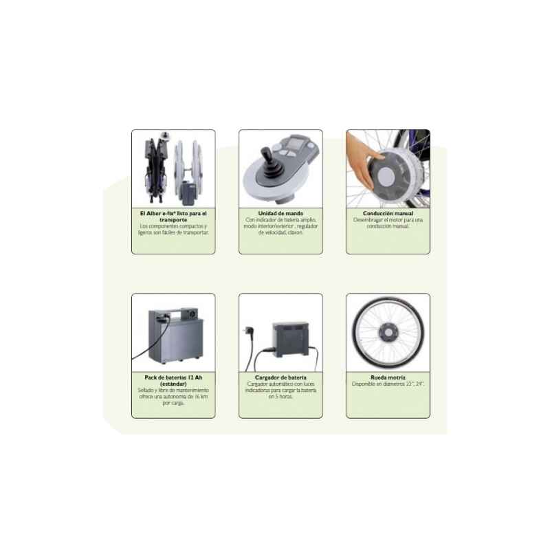 Sistema para sillas de ruedas Alber e-fix