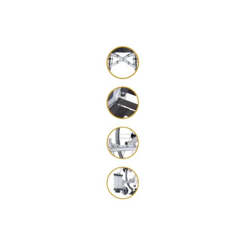 Silla de ruedas ligera adaptable Revolution R1