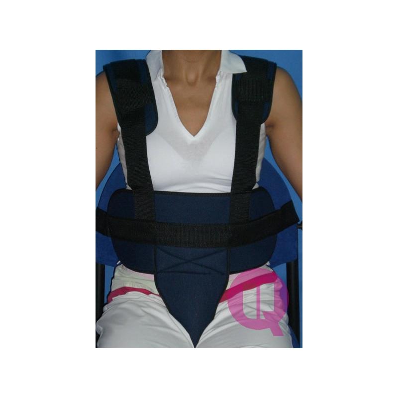 Cinturón de Sujeción Perineal con Tirantes para Sillas de Ruedas