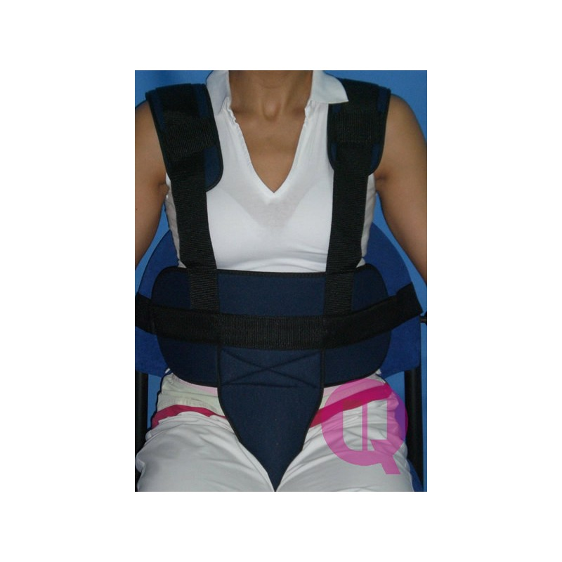 Cinturón Perineal con Tirantes Imán Acolchado para Sillas de Ruedas