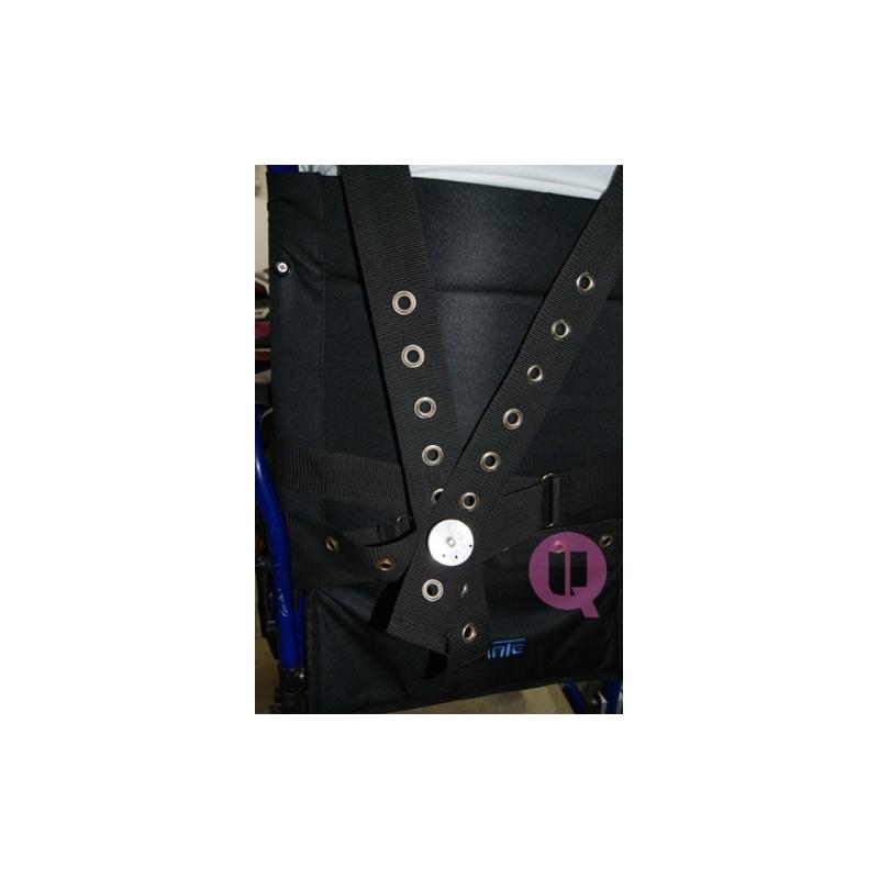 Cinturón Perineal con Tirantes Ironclip Acolchado para Silla de Ruedas