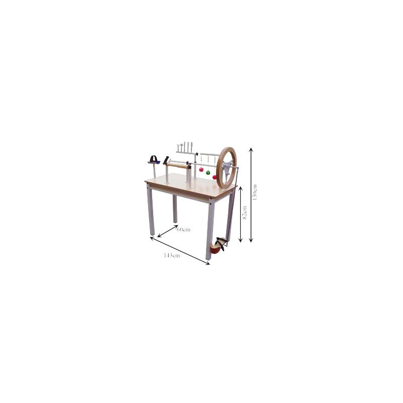 Mesa de Manos y Piés de Metálica