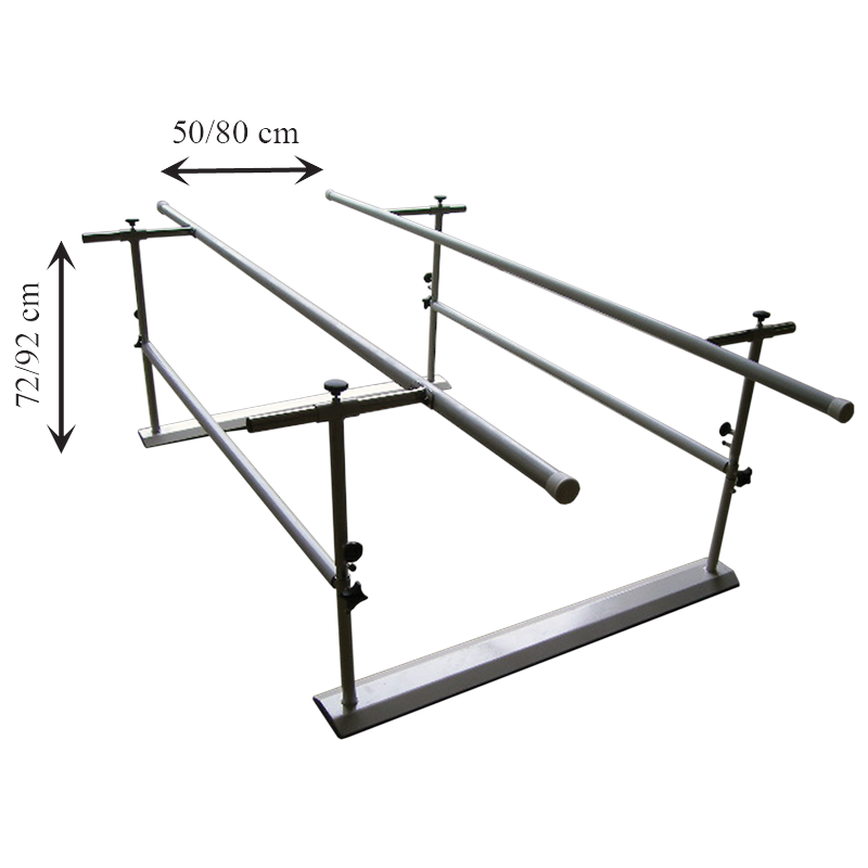 Paralela regulable en altura y anchura de  2m de longitud