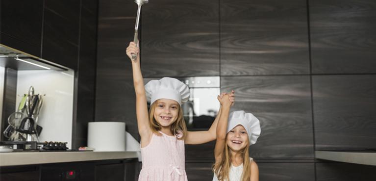 cocinar con niños en casa