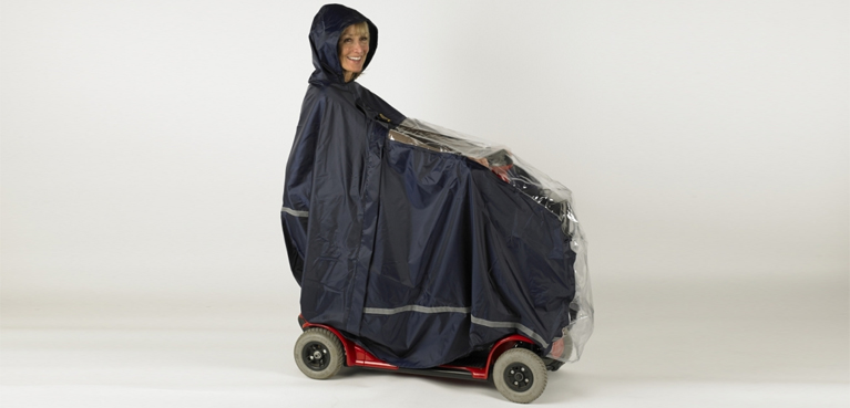 Chubasquero para scooter eléctrico
